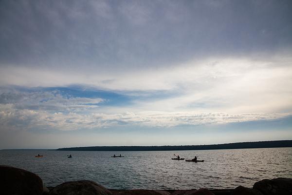 Photo of kayakers on Lake Superior