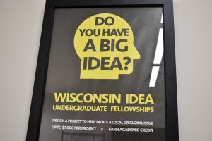 Poster Advertising the Wisconsin Idea Undergraduate Fellowships
