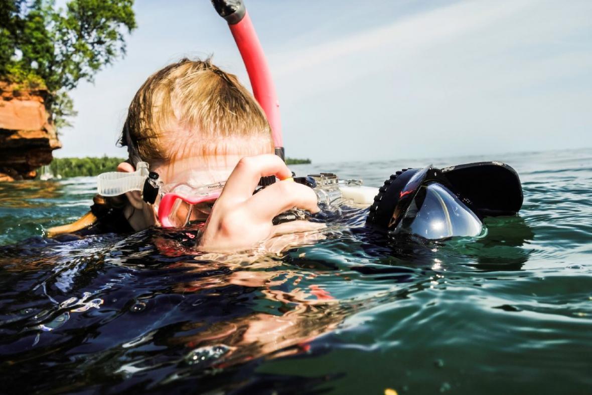 Photo of underwater photographer