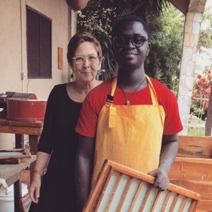 Mary with her research assistant Henry in Ghana