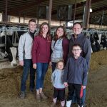 Image of the Brey family: Jacob & Lauren Brey, Moriah & Tony Brey, children Alexa and Evan.