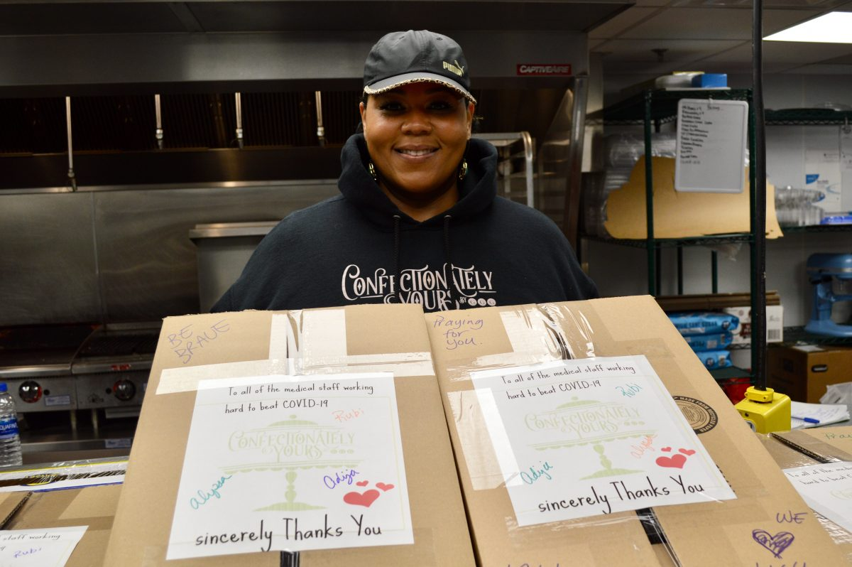 Each box contains three types of cookies and messages of positivity. (Photo by Ana Martinez-Ortiz)