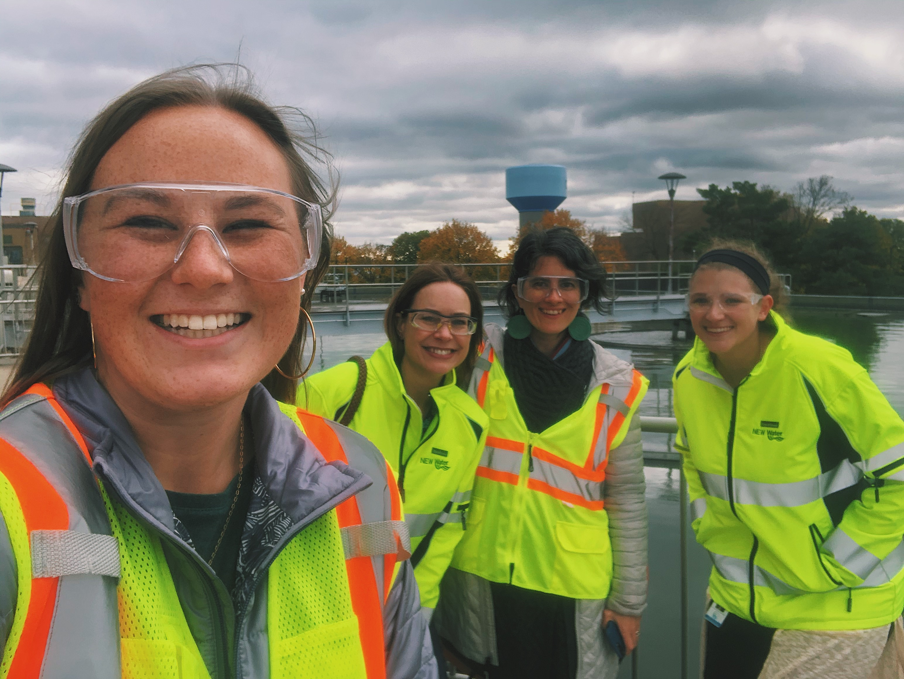 Wisconsin Idea Seminar director Catherine Reiland and intern Bethany Prochnow visited Tricia and her team at NEW Water in October of 2019. (Image courtesy of Bethany Prochnow/UW-Madison)